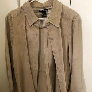 Jackets & Blazers - Suede shirt/jacket